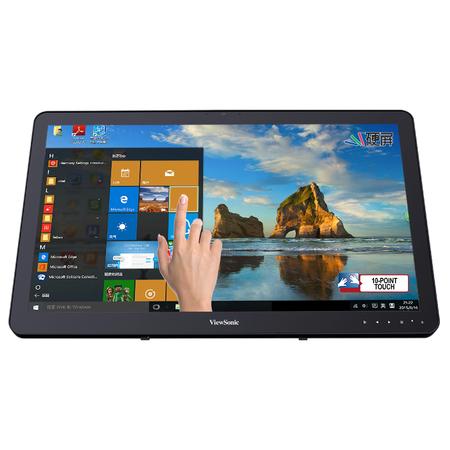 23.6英寸十点电容触摸显示器硬屏 HDMI DP 优派TD2430